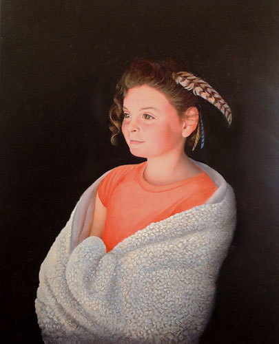 Young Girl Portrait Painting